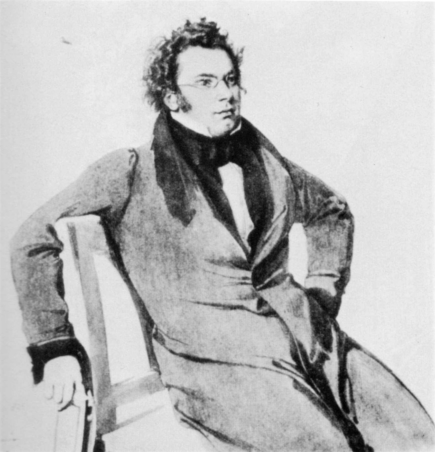 Schubert in 1825 (watercolour by Wilhelm Rieder)